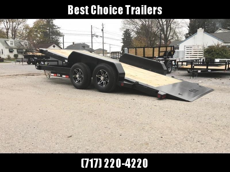 2020 Ironbull 7x20' POWER Tilt Equipment Trailer 14000# GVW * POWER TILT * 12K HYDRAULIC JACK * WINCH PLATE * TORSION