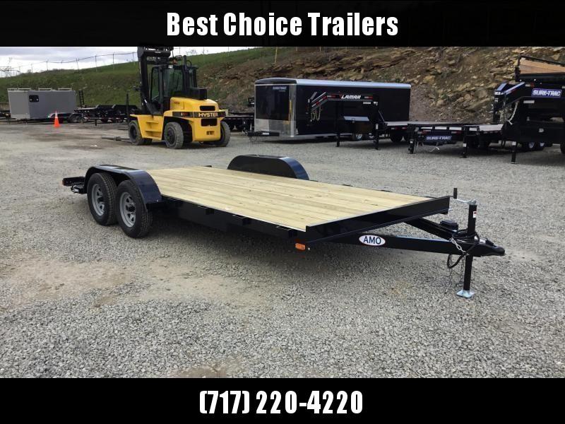 2018 AMO 7x18' Wood Deck Car Trailer 7000# GVW * CLEARANCE