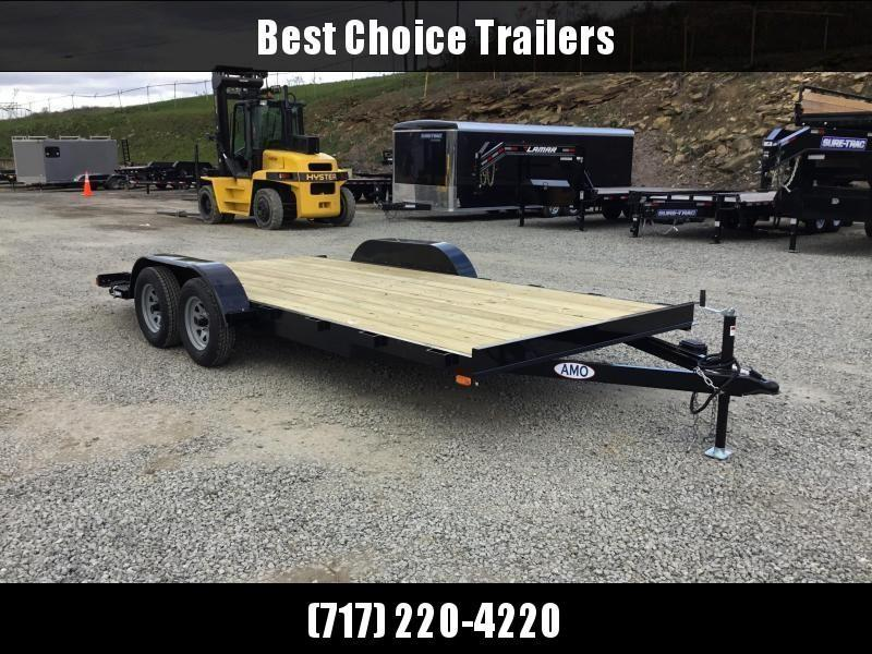 2018 AMO 7x18' Wood Deck Car Trailer 7000# GVW