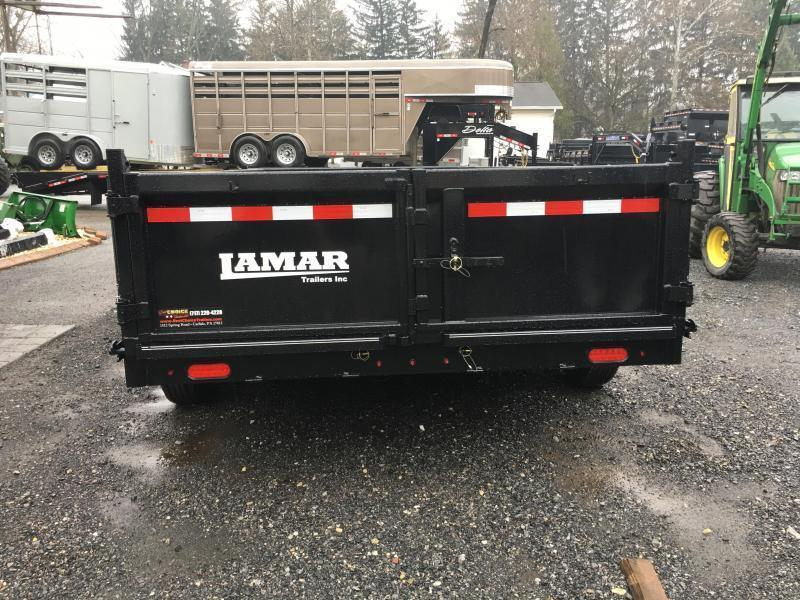 2018 Lamar 7x14' Dump Trailer 14000# GVW * TARP * 12K JACK * SPARE MOUNT * 7 GAUGE * SCISSOR * CHARCOAL