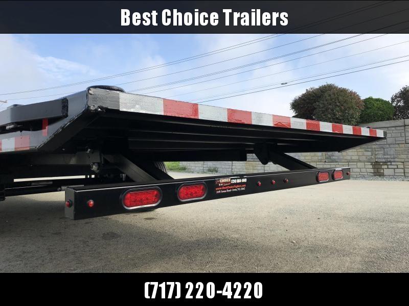 2019 Sure-Trac 102x24' 17600# Low Profile Power Tilt Deckover *  8K AXLE UPGRADE * WINCH PLATE * OAK DECK