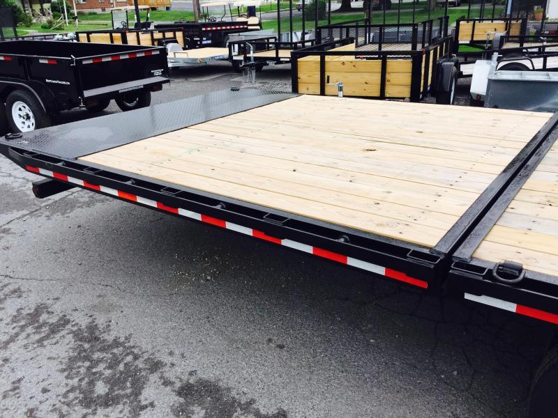 "2017 Sure-Trac 102""x20'+10' Hydraulic Dovetail Deckover Trailer 22500# GVW - MUD FLAPS * FREE SPARE & WIRELESS REMOTE"