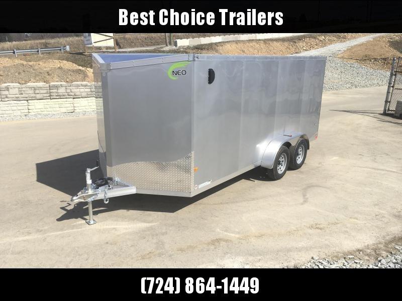 2019 Neo 7x16 NAVF Aluminum Enclosed Cargo Trailer * RAMP DOOR