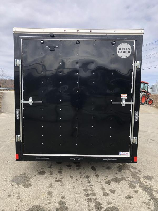 2019 Wells Cargo 7x14' Fastrac Enclosed Cargo Trailer 7000# GVW * WHITE * RAMP DOOR * V-NOSE