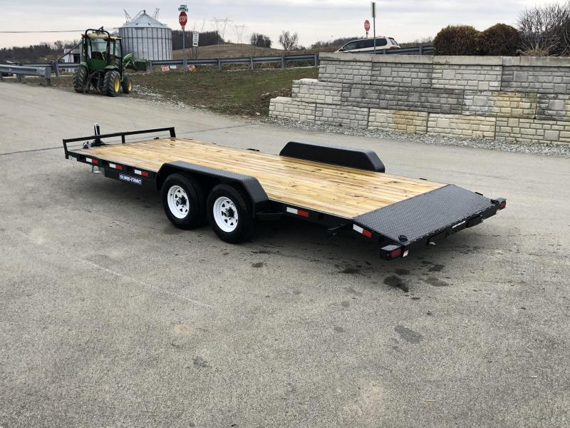2019 Sure Trac 7x20' 9900# Wood Deck Car Hauler * REAR SLIDE IN RAMPS * 7000# JACK