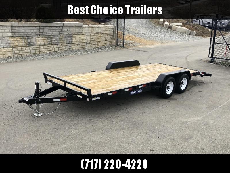 2019 Sure Trac 7x20' 9900# Wood Deck Car Hauler * REAR SLIDE IN RAMPS * 7000# JACK in Ashburn, VA