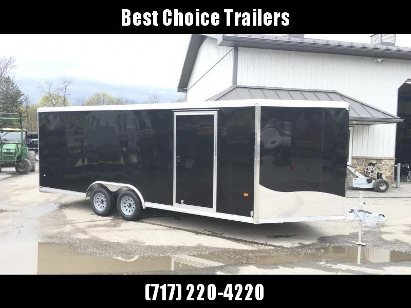 2019 NEO 8.5x18' NCBF Aluminum Flat Top Enclosed Car Hauler Trailer 7000# GVW NCB1885F * ALUMINUM WHEELS * ESCAPE HATCH