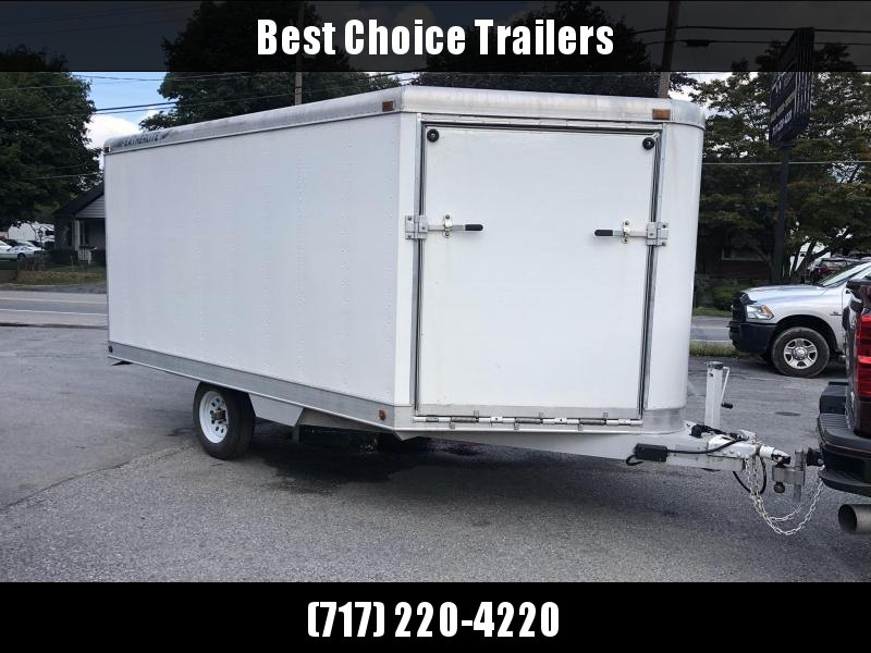 USED Featherlite 8.5x14' 2-Place Aluminum Snowmobile Trailer * ALUMINUM * FRONT/REAR RAMPS * BRAKES