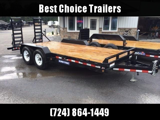 2018 Sure-Trac Implement 7'x18' Equipment Trailer 14000# GVW * CLEARANCE - FREE ALUMINUM WHEELS in Ashburn, VA