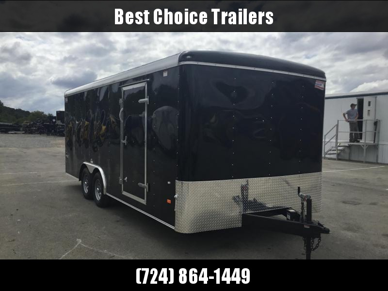 2018 American Hauler 8.5x20' Enclosed Car Hauler Trailer Ramp Door