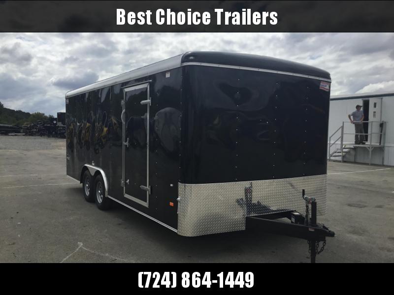 2018 American Hauler 8.5x20' Enclosed Car Hauler Trailer Ramp Door