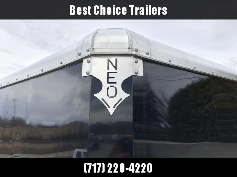"2020 Neo 7x12 NAMR Aluminum Enclosed Motorcycle Trailer SINGLE AXLE 2990# GVW * INDIGO & SILVER * VINYL WALLS * ALUMINUM WHEELS * +12"" HEIGHT UTV SPORTS PACKAGE"