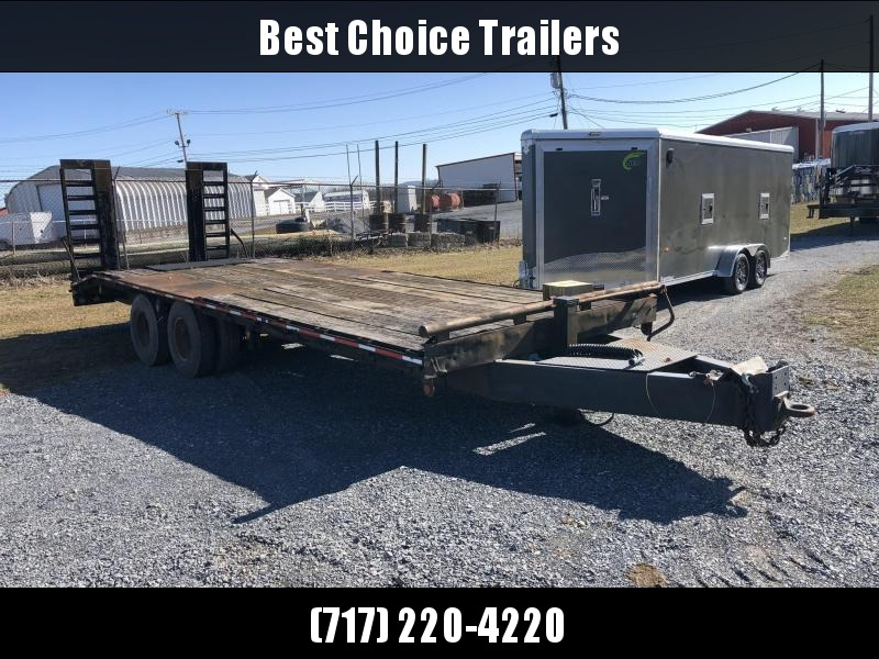 USED 1987 International 25' Flatbed Deckover Trailer 20000#