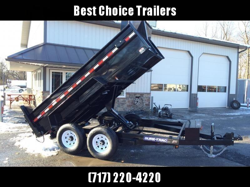 2019 Sure-Trac 7x12' HD LowPro Dump Trailer 12000# GVW - SCISSOR HOIST - ST8212HLOD-B-120