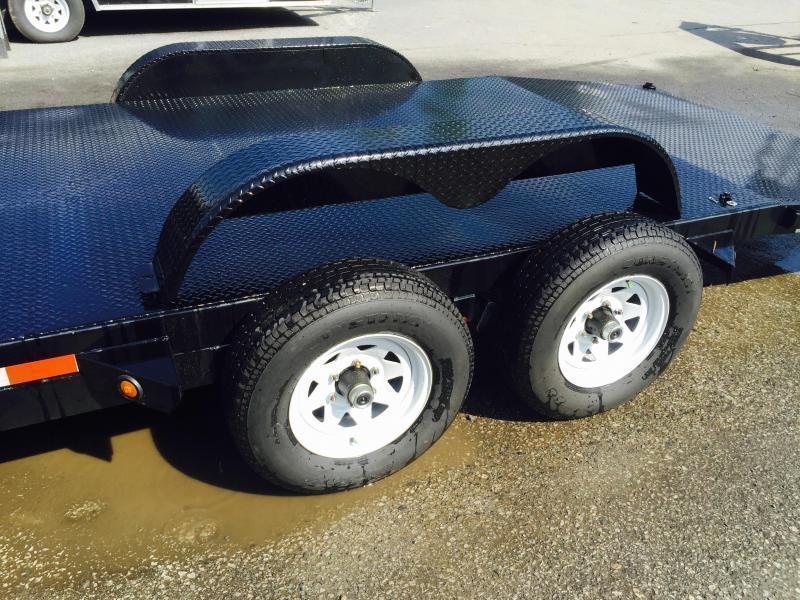 2019 Sure-Trac 7x18 9900# Steel Deck Car Trailer Low Profile/Low Angle DROP LEG JACK