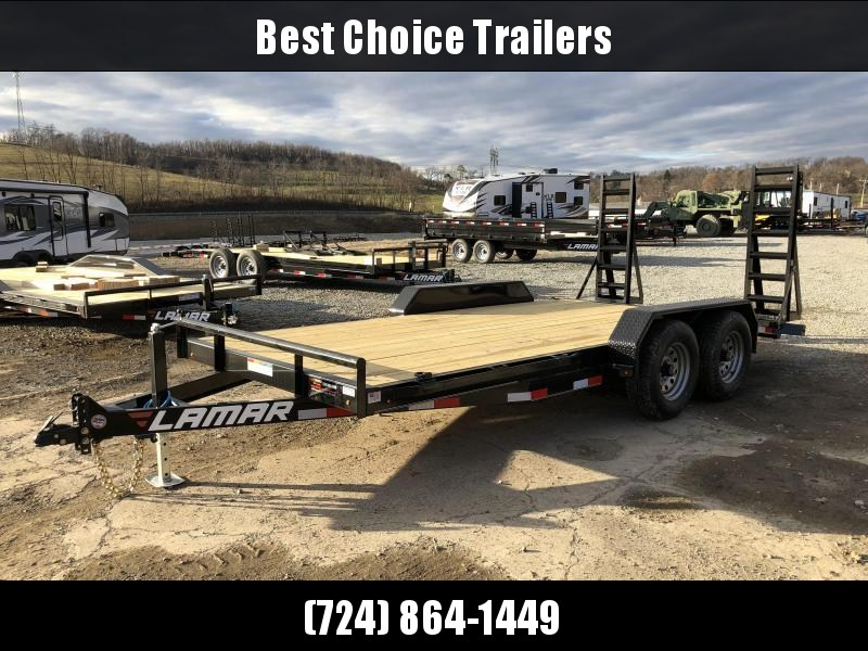 2018 Lamar 7x16' Equipment Trailer 9990# GVW * STAND UP RAMPS