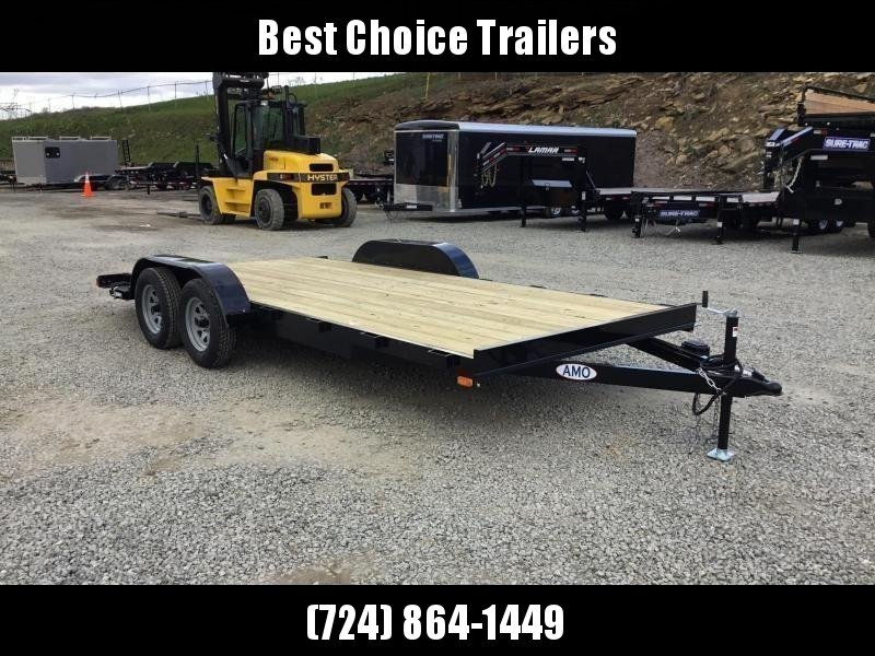 2018 AMO 7x18' Wood Deck Car Trailer 7000# GVW * BLACK FRIDAY SPECIAL