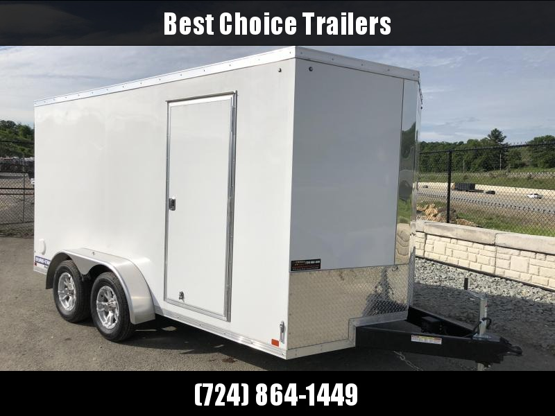 2018 Sure-Trac 7x14' Enclosed Cargo Trailer 7000# GVW * WHITE