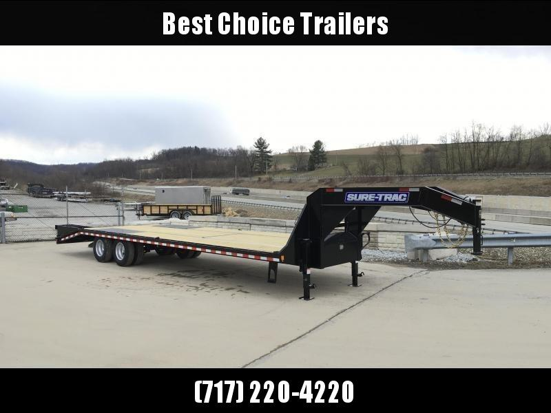 2018 Sure-Trac 102x20+5 22K Beavertail Deckover Trailer Pierced Frame