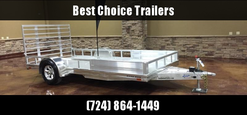 2018 Sundowner 7x14' All Aluminum ATV Hauler Trailer 4025# GVW 8114SUT * EXTRUDED FLOOR * TORSION * BRAKES * SIDE RAILS * ATV RAMPS * CLEARANCE