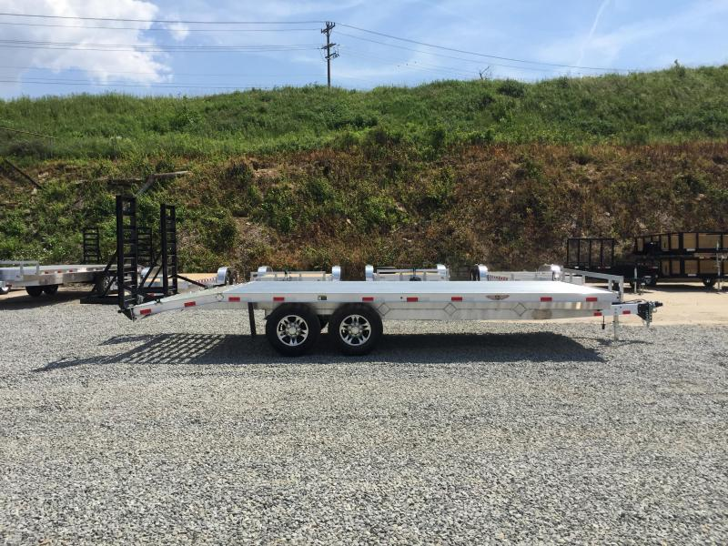 2017 H&H 102x18+4 Aluminum Deckover Equipment Trailer 14000# * TORSION * EXTRUDED ALUMINUM FLOOR * SKIDSTEER RAMPS * CLEARANCE