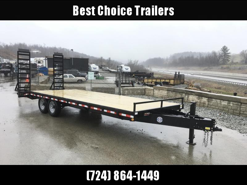 2018 QSA 102x18+4 HD LP Beavertail Deckover Trailer 12000# * CLEARANCE - FREE ALUMINUM WHEELS