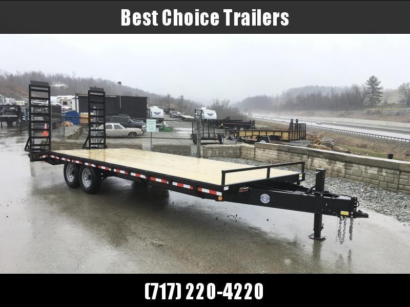 2018 QSA 102x18+4 HD LP Beavertail Deckover Trailer 12000#