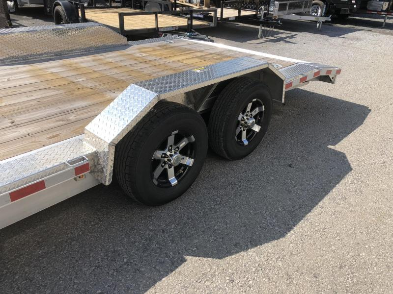 """2018 H&H 102""""x20' 9990# Low Profile Aluminum Car Hauler * BUGGY HAULER * HEAVY DUTY * TORSION DROP AXLES * 8"""" FRAME * SWIVEL D-RINGS * EXTRUDED BEAVERTAIL * 102"""" DECK EXTENSION * DRIVER OVER FENDERS * CLEARANCE + FREE ALUMINUM SPARE"""