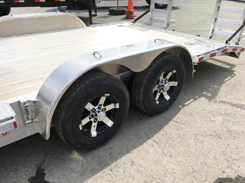 """2018 H&H 102""""x20' Aluminum Equipment Trailer 9990# GVW * 102"""" DECK EXTENSIONS * STAND UP RAMPS * EXTRUDED FLOOR * TORSION DROP AXLES * SWIVEL D-RINGS * EXTRA STAKE POCKETS"""