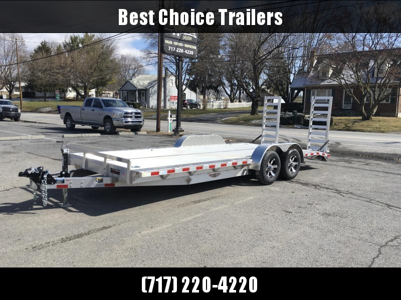 "2018 H&H 102""x20' Aluminum Equipment Trailer 9990# GVW * 102"" DECK EXTENSIONS * STAND UP RAMPS * EXTRUDED FLOOR * TORSION DROP AXLES * SWIVEL D-RINGS * EXTRA STAKE POCKETS"