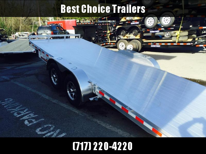 2018 H&H 7x22' Aluminum Power Tilt Car Trailer 14000# GVW * EXTRUDED ALUMINUM FLOOR * SWIVEL D-RINGS * EXTRA STAKE POCKETS