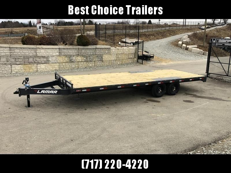 2019 Lamar F8 102x20' Flatbed Deckover Trailer 14000# GVW * CHARCOAL * 8' SLIDE IN RAMPS in Ashburn, VA