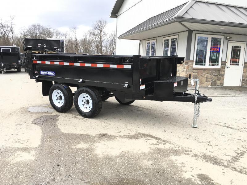 2019 Sure-Trac 6x10' SD Deckover Dump Trailer 9900# GVW * FOLD DOWN SIDES * HIGH SIDES * BARN DOORS