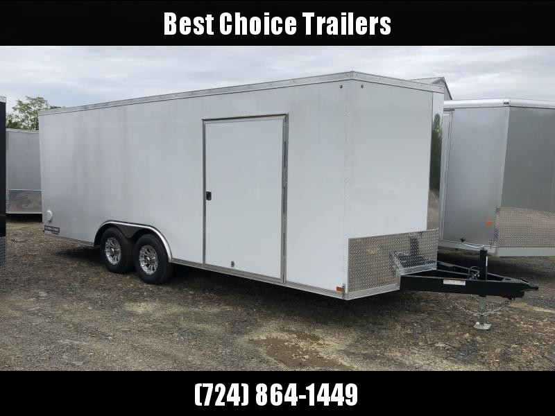 2019 Sure-Trac 8.5x20' Enclosed Car Trailer 9900# GVW * WHITE * 7K DROP LEG JACK * 2 HIGH OUTPUT DOME LIGHTS