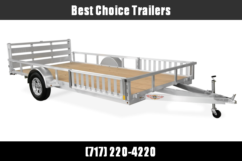2019 H&H 7x12' Aluminum ATV Ramps Utility Landscape Trailer 2990# GVW * BI FOLD GATE * ALUMINUM WHEELS * ATV SIDE RAMPS
