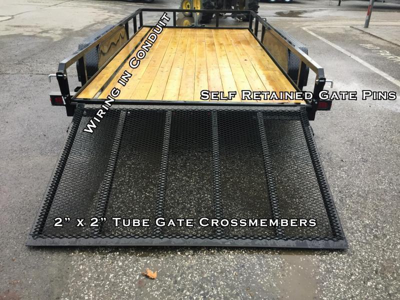 2019 Sure Trac 7x16' Tube Top Utility Landscape Trailer 7000# GVW * SIDE ATV GATE