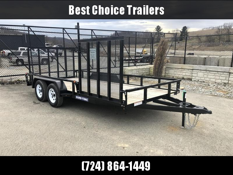 2019 Sure Trac 7x16' Tube Top Utility Landscape Trailer 7000# GVW * SIDE ATV GATE