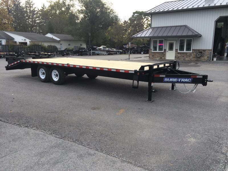 2019 Sure-Trac 102x20+5 15K Beavertail Deckover Trailer * FULL WIDTH RAMPS