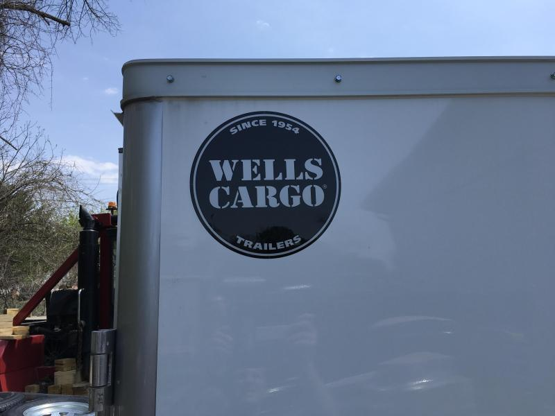 2018 Wells Cargo 7x16' VG500 Enclosed Cargo Trailer 7000# GVW * WHITE