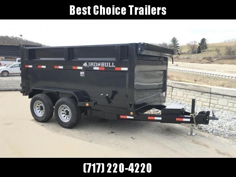 2018 Iron Bull 7x12' 4' HIGH SIDE Dump Trailer 14000# GVW RAMPS * TARP * SCISSOR
