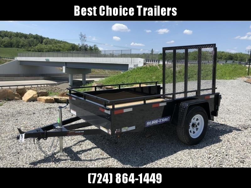 2018 Sure-Trac 5x8' Steel High Side Landscape Utility Trailer 2990# GVW * CLEARANCE - FREE ALUMINUM WHEELS