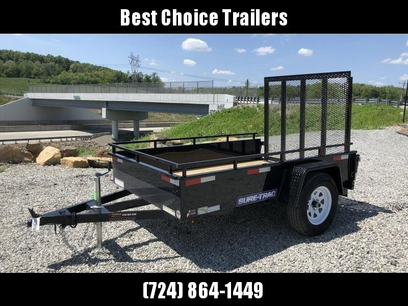 2018 Sure-Trac 5x8' Steel High Side Landscape Utility Trailer 2990# GVW * CLEARANCE - FREE ALUMINUM WHEELS