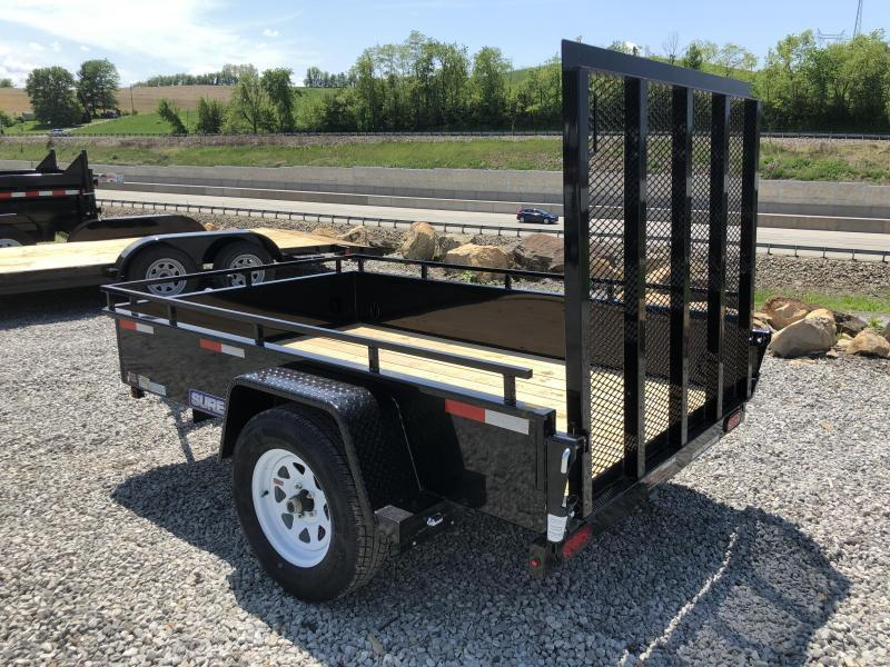 2018 Sure-Trac 5x8' Steel High Side Landscape Utility Trailer 2990# GVW