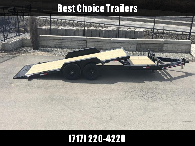 "2019 Load Trail 7x20' Gravity Tilt Equipment Trailer 14000# * TH8320072 * 8"" I-BEAM FRAME * TORSION * STOP VALUE * POWDER PRIMER * DEXTER'S * 2-3-2 WARRANTY"