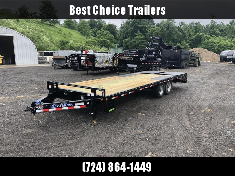 2019 Load Trail 102x24' Load Trail Beavertail Deckover Flatbed 14000# Trailer * PS0224072 * MAX RAMPS * DUAL JACKS * ZINC PRIMER * DEXTER'S * 2-3-2 WARRANTY