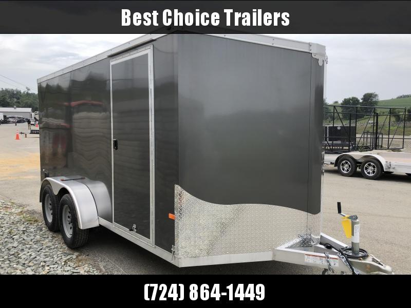 2018 NEO 7x14 NAVF Aluminum Enclosed Cargo Trailer * RAMP DOOR * CHARCOAL