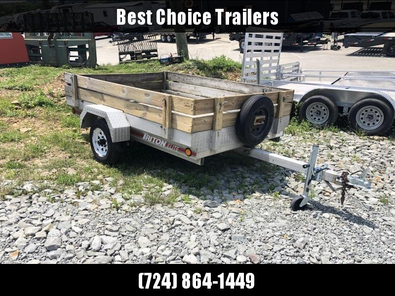USED Triton 5x8' Aluminum Utility Landscape Trailer w/ Sides 2000# GVW * SPARE TIRE