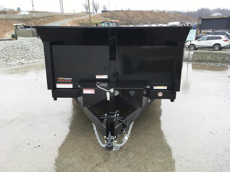 2019 Sure-Trac 7x14' LowPro HD Dump Trailer 14000# GVW - SCISSOR HOIST