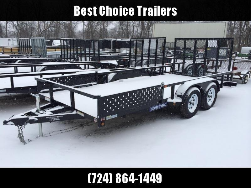 2018 Sure-Trac 7x16' Tube Top ATV Side Ramps Utility Landscape Trailer 7000# GVW