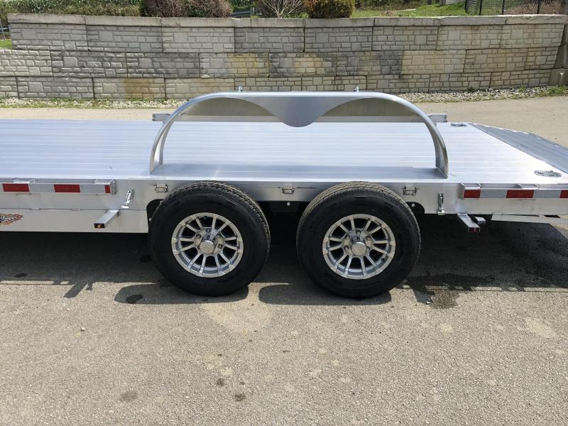 2019 H&H 7x20' Aluminum Car Trailer 9990# GVW * LOADED * EXTRUDED ALUMINUM FLOOR * TORSION AXLES * SWIVEL D-RINGS * EXTRA STAKE POCKETS